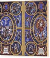 Crucifixion And Resurrection  Wood Print
