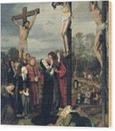Crucifixion Wood Print by Eduard Karl Franz von Gebhardt