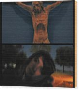 Crucifixion Wood Print by James W Johnson