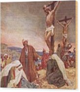 Crucifixion Wood Print by William Brassey Hole