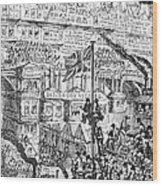 Cruikshank: London, 1851 Wood Print