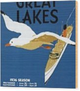 Cruise Across The Great Lakes - Canadian Pacific - Retro Travel Poster - Vintage Poster Wood Print