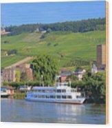 Cruise Boat, Rudesheim, Germany Wood Print