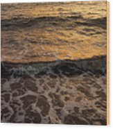 Cruise Ship Off The Beach Wood Print