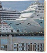 Cruise Ship Trio Wood Print