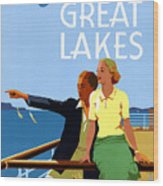Cruise The Great Lakes Vintage Travel Poster Wood Print