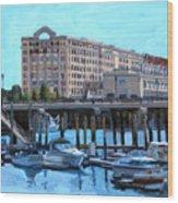 Cruiseport Boston Wood Print