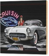 Cruisin' The Diner .... Wood Print
