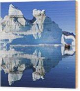 Cruising Between The Icebergs, Greenland Wood Print
