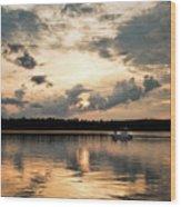 Cruising, Eagle Lake, Almaguin Highlands, Ontario Wood Print