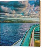 Cruising Hispaniola Wood Print