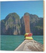 Cruising Maya Bay Wood Print