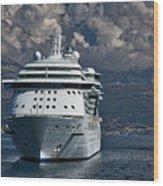Cruising The Adriatic Sea Wood Print