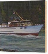 Cruising The British Columbia Gulf Islands, Canada                                       Wood Print