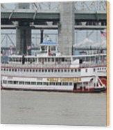 Cruising The Ohio River Wood Print