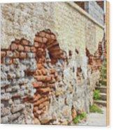 Crumbling Wall Wood Print