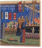 Crusades 14th Century Wood Print