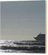 Crusing Seas Wood Print
