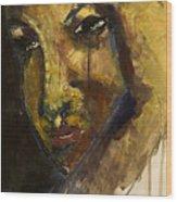 Crying 2 Wood Print