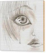 Crying Eye Wood Print