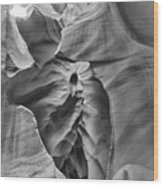 Crying Face - Antelope Canyon Wood Print