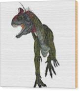 Cryolophosaurus Dinosaur Aggression Wood Print