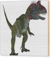Cryolophosaurus On White Wood Print