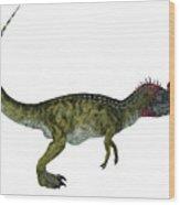 Cryolophosaurus Side Profile Wood Print