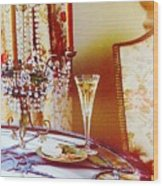 Crystal And Champagne Wood Print
