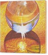 Crystal Ball Wood Print