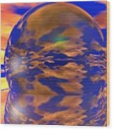 Crystal Ball Wood Print