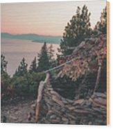 Crystal Bay Hut Wood Print