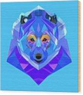 Crystal Bear - 90 Wood Print