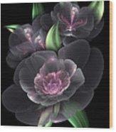 Crystal Bouquet Wood Print