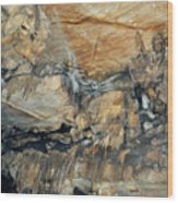 Crystal Cave Marble Formations Portrait Wood Print