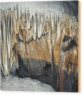 Crystal Cave Waves Wood Print