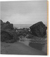 Crystal Cove Rocks  Wood Print
