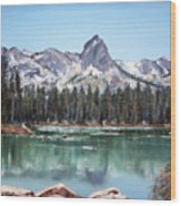 Crystal Crag From Twin Lakes Mammoth Ca Wood Print