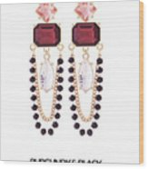 Crystal Earrings For Women Wood Print