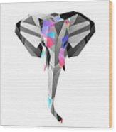 Crystal Elephant - 56 Wood Print