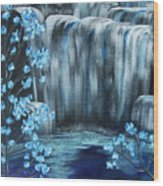 Crystal Falls Wood Print