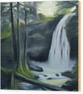 Crystal Falls In The Black Forest Dreamy Mirage Wood Print
