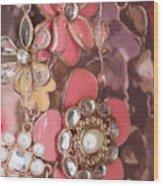 Crystal Flowers Wood Print