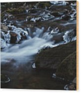 Crystal Flows In Hdr Wood Print by Joseph Noonan