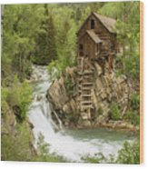 Crystal Mill In July Wood Print