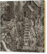 Crystal Mill Marble Colorado Sepia Dsc06944 Wood Print
