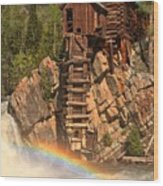 Crystal Mill Rainbow Wood Print