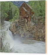 Crystal Mill Swirls Wood Print