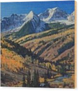 Crystal River Valley Wood Print