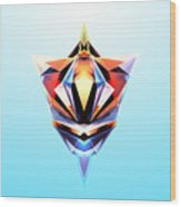 Crystal Shapes - 24 Wood Print